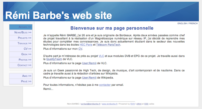 Siteweb version 2006