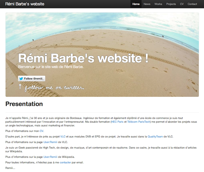 Siteweb version 2012