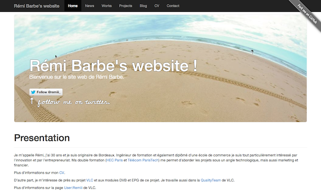 Siteweb version 2013 - Aout